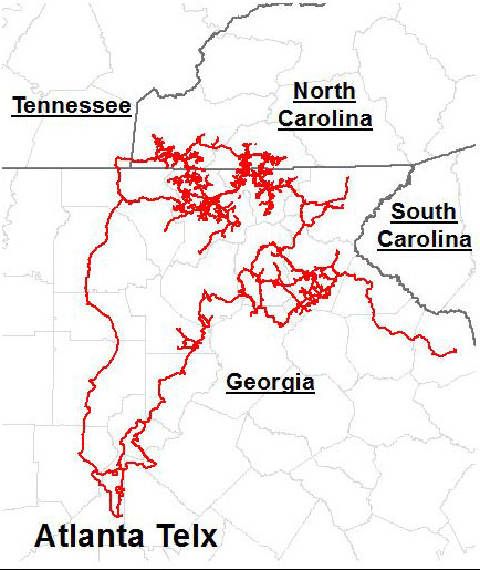 North Georgia Network Fiber Optic runs through several counties in North Georgia