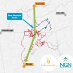 Knoxville to Atlanta Fiber Optic Route